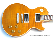 gibson les paul standard ampber plus top