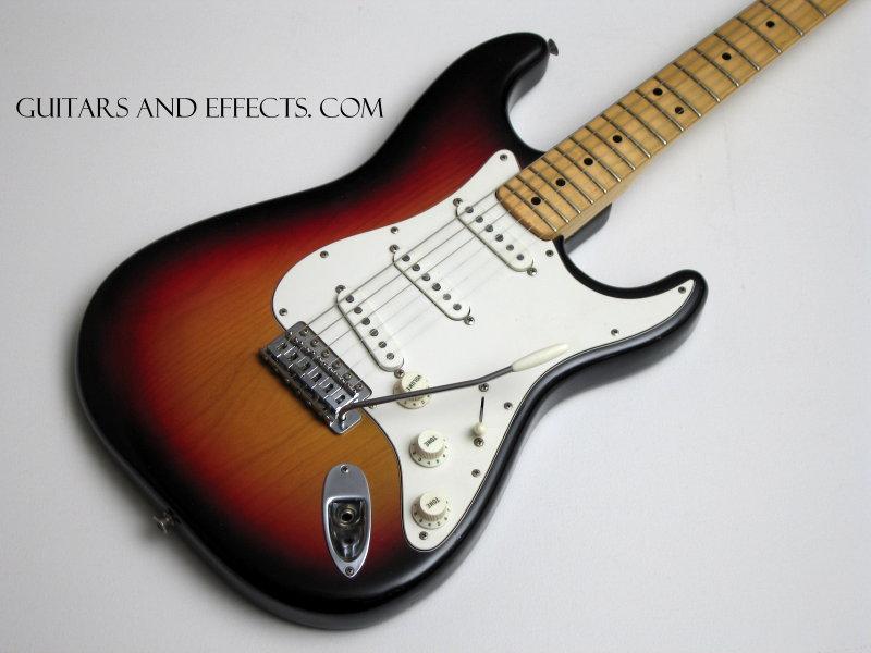 fender stratocaster sunburst maple. Fender 1973 Stratocaster